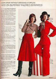 We're well into Autumn and I almost forgot to take another look back on Fall Fashions from the Now that just would not do! Seventies Fashion, 60s And 70s Fashion, New York Fashion, Retro Fashion, Vintage Fashion, Vintage Outfits, Vintage Dresses, Vintage Boots, 80s Womens Fashion