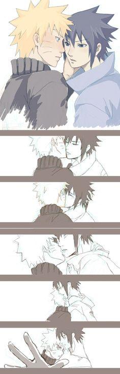 Mhh kisses for Sasuke #sasunaru #narusasu