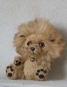 Львёнок Бони - мишки тедди,друзья тедди,лев,бежевый,игрушка,подарок,вискоза