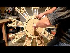 9 cylinder radial engine... Made of wood.