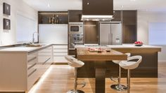 Remuera-by-Mal-Corboy-Design L shaped kitchen island ideas to try in your kitchen