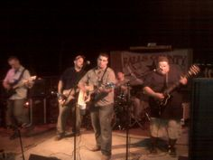 Falls County Band playing benefit in Possum Kingdom, TX with Josh Abbott