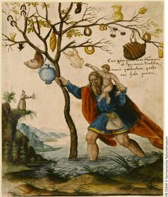 painted leaf from an unknown album amicorum in the GNM -- see their ref [margin, bottom right] and -- obviously -- via their website. Apparently this is St, Christopher as Gift-Bringer -- not a motif known to me, I confess -- but as ever, happy to be enlightened by my enlightened following!