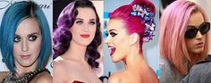 Katy Perry, Hair, Colorful, Hairstyle