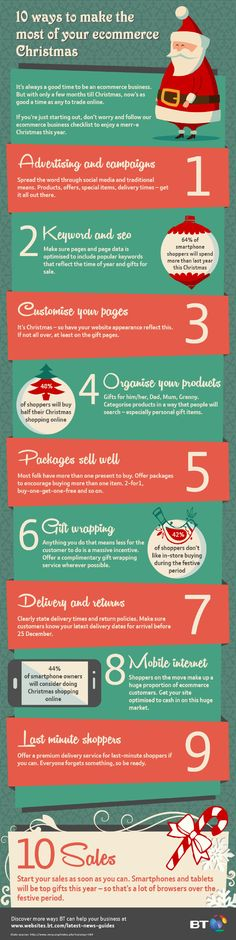 10 ways to make the most of your ecommerce christmas #infographic #Christmas #eCommerce
