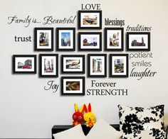 Love Blessing Trust Forever Photo Frame with Words Wall Sticker - Lafy Home - 1