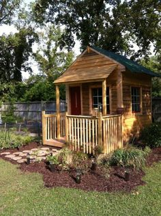 Backyard Tiny House with Covered Front Porch
