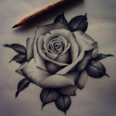 Realistic rose drawing Tattoo by Madeleine Hoogkamer Darko's . Neck Tattoos, Forearm Tattoos, Body Art Tattoos, Sleeve Tattoos, Tatoos, Hand Tattoos, Maori Tattoos, Rose Tattoo On Forearm, Rose Drawing Tattoo