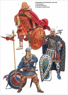 "clearairturbulence: "" Varangian Guard The Varangian Guard (Greek: Τάγμα των Βαράγγων, Tágma tōn Varángōn) was an elite unit of the Byzantine Army in to the centuries, whose members served as. Armadura Medieval, Vikings, Medieval Armor, Medieval Fantasy, Byzantine Army, Varangian Guard, Costume Français, Empire Romain, Templer"