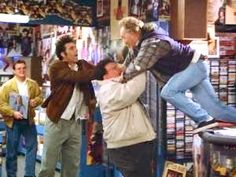 (The Old Man) - RON: That's it. Get out of my store! NEWMAN: Make us!RON: Oh, I'll make you!