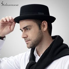 Sedancasase Fashion 100% Australia Wool Men's Fedora Hat with Pork Pie Hat for Classic Church Wool Felt Hat Who like it ? #shop #beauty #Woman's fashion #Products #Hat
