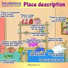Description prepositions of place
