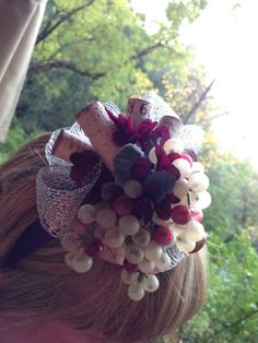 My wine cork FASCINATOR from my sister for my birthday weekend in Napa!!