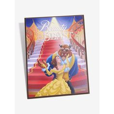 Disney Beauty And The Beast Wooden Wall Art ($9.90) ❤ liked on Polyvore featuring home, home decor, wall art, motivational wall art, wood wall art, disney wall art, disney home decor and wooden home accessories