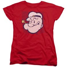 Popeye/Head Short Sleeve Women's Tee