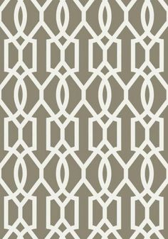 Downing Gate #wallpaper and coordinating #fabric in Grey from the Resort Collection by #Thibaut