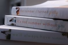the summer i turned pretty trilogy...first time i've read them. loved them instantly