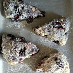 Blackberry White Chocolate scones with Lavendar Glaze...sweet and satisfying for the perfect weekend breakfast!