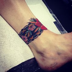 .@kirk_jones | Cover up of a Celtic ankle band. Done at @goodlucktattoo | Webstagram - the best Instagram viewer