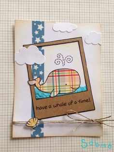 Lawn Fawn - Critters in the Sea, Say Cheese _ love Sabine's Plaid whale | Flickr - Photo Sharing!