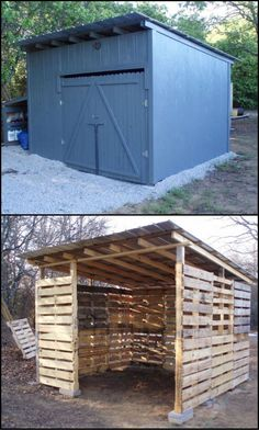 How To Build A Shed From Repurposed Pallets   A shed is almost essential for every home.  Where else can you store the tools, lawn mower and miscellaneous stuff that doesn't fit in the house? This one is that bit better because it's made from recycled pallets. #howtobuildagardenshed