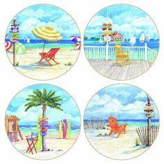 Paul Brent Beach Coasters
