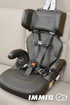 """The IMMI GO™ is a child car seat that's lightweight, easy to install, and offers safety-minded parents the added protection they want for their children.  Not only is the IMMI GO portable (it comes with a free, attached carrying case), it's also easy to store, taking up little room in a trunk.  Designed and tested for children:  Height: 31"""" - 52"""" Weight: 22 - 55 lbs. (using LATCH), 22-65 lb. (using vehicle seat belts)"""