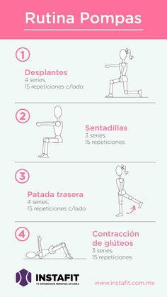 4 ejercicios para tener glúteos redondos #pompas #workout #butt www.instafit.com