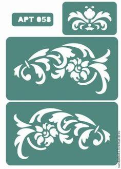 Декупаж и роспись ручной работы. Трафарет 057, 058, 059, 060. Sunduchok (сундучок). Ярмарка Мастеров. Декупаж, пластик