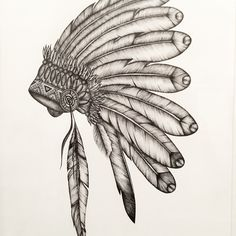 Completed #art #artist #artistic #artwork #sketch #instaart #instaartist #art_help #artlife #instadraw #artgram #artlife #artistofinstagram #drawing #painting #watercolor #ink #illustration #design #creative #artvsartist #copic #copicmarkers #video #indian #indigenous #headdress #feathers
