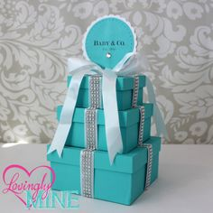 Tiffany Baby Shower Centerpiece