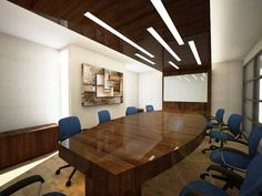 Meeting room design for office at Iskandarsyah, Jakarta. Rendering version. By utkastdesign team.