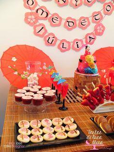 Tartas de luna llena: Fiesta Japonesa (kokeshi) - Japanese (kokeshi) party