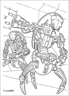 black and white coloring pages star wars qui-gon - Google Search