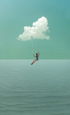 suspended in the clouds - cloud swing photomontage Photomontage, Jolie Photo, Pretty Pictures, Feeling Pictures, Dream Pictures, Dream Images, Love Images, Collage Art, Soul Collage