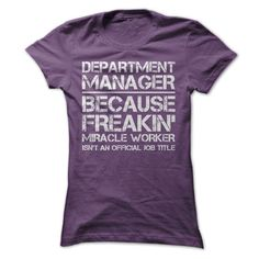 Department Manager Job Title T-Shirt Hoodie Sweatshirts iio. Check price ==► http://graphictshirts.xyz/?p=42554