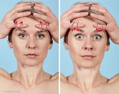 7 effective exercises to get rid of wrinkles in 12 minutes - Beauty Yoga Facial, Beauty Skin, Health And Beauty, Make It Easy, Nasolabial Folds, Face Exercises, Natural Beauty Recipes, Face Massage, Double Chin