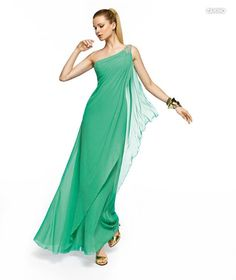 PRONOVIAS BARCELONA 2013 long collection prom dresses robe de soirée verte 2