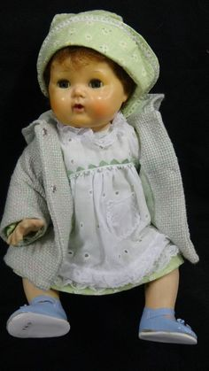 Vintage American Character TINY TEARS Baby Doll 16""