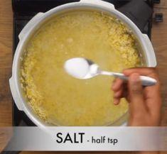 घर पर वेन पोंगल कैसे बनाये? (हिंदी में) Ven Pongal Recipe Step By Step Photo Ven Pongal Recipe, Recipe Steps, Pudding, Desserts, Recipes, Food, Tailgate Desserts, Deserts, Custard Pudding