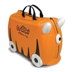 Melissa & Doug Trunki Iris Rolling Kids Luggage - a great way to teach your kiddo to pull his or her own luggage and still make it fun (or sit on it the airport while waiting)
