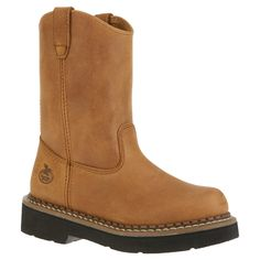 4896dd4b031f Georgia Boot Unisex Infant GB202 Wellington Wild West Brown Size 4.5 M  Georgia Boots