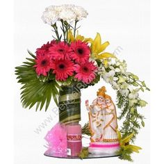We have arranged unique and beautiful bouquets of flowers for Durga Puja.