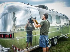 Airstream Restoration and Camping in Texas! Airstream Travel Trailers, Airstream Camping, Airstream Living, Airstream Remodel, Airstream Interior, Vintage Airstream, Vintage Travel Trailers, Camper Trailers, Vintage Campers