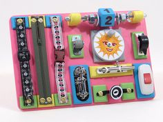 Travel Mini Busy Baby Board Toddler Activity Play Board Busy Sensory Toy Fidget Board with Locks Developing Board Birthday Girl Boy Gift Toy Christmas Gifts For Kids, Gifts For Boys, Learning Activities, Toddler Activities, Sensory Rooms, Sensory Play, Sensory Boards, Activity Board, Busy Board