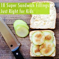 18 Super Sandwich Fillings Just Right for Kids Lunch Snacks, Lunch Recipes, Baby Food Recipes, Healthy Snacks, Lunch Box, Healthy Kids, Easy Recipes, Healthy Eating, Toddler Meals