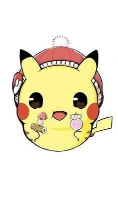 Pichu Pikachu Raichu, Pikachu Art, Cute Pikachu, Ghost Type Pokemon, My Pokemon, Cool Pokemon, Chibi Kawaii, Kawaii Cat, Cute Pokemon Wallpaper