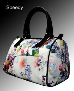 White floral Digital Print Hand bag for only 1049/-