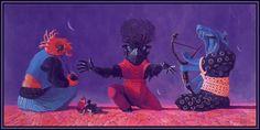 Wayne Barlowe - Thype and Barlowe are Entertained Wayne Barlowe, Les Aliens, Working Drawing, World Of Fantasy, Magic Realism, Deities, Art Google, All Art, Cover Art