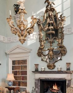 Drue Heinz Auction at Christie's Mews House, Sutton Place, World Of Interiors, Drawing Rooms, Auction, Blue And White, House Design, Ceiling Lights, Antiques